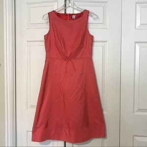 J Crew Silk Coral Sleeveless Dress